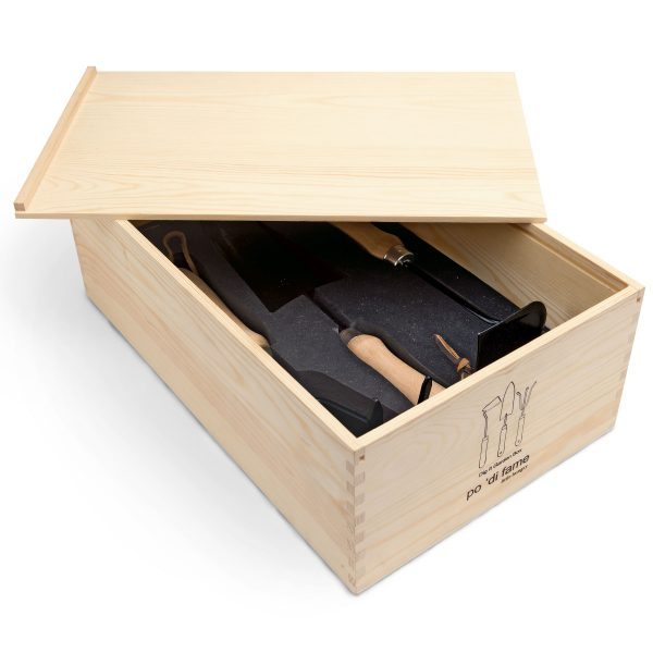 po 'di fame natural pine wood box