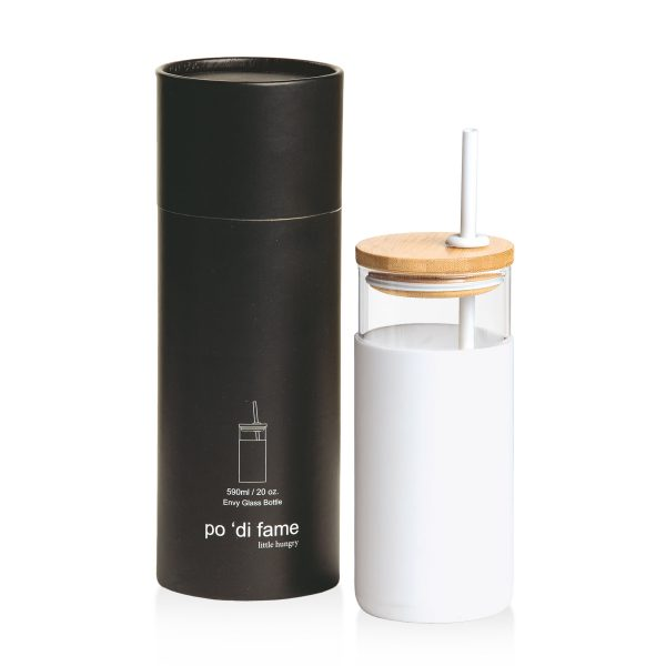 White Envy Glass Bottle With Presentation Tube