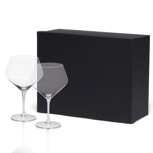 2x gin Glasses with Presentation Box