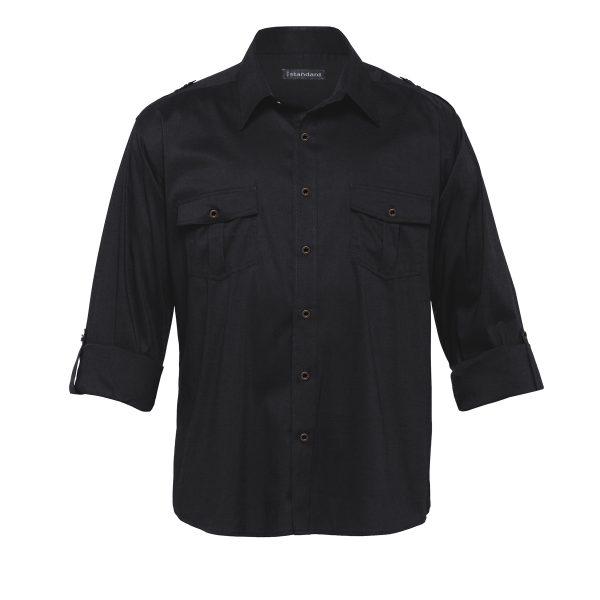 Black - sleeves rolled up