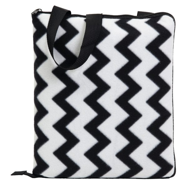 Black/White - Folded as Cushion