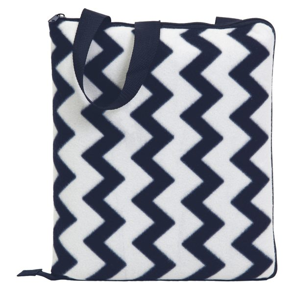 Navy/White - Folded as Cushion