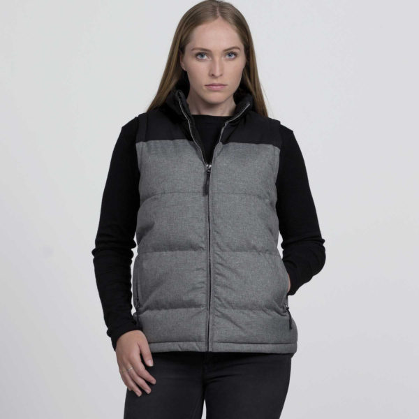 Axle Puffa Vest - Grey Melange/Black