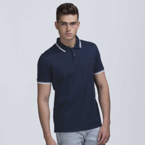 Mens Stanton Polo -Navy/White