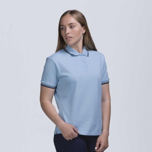 Womens Stanton Polo - Sky/Navy