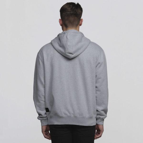 Mens Grey Marle - Back
