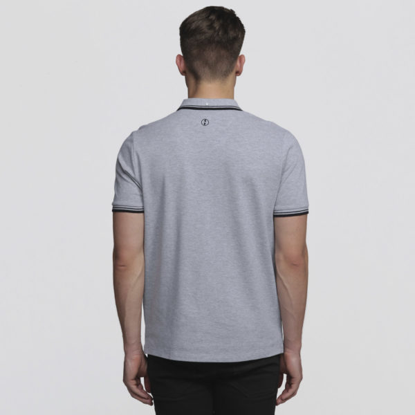Mens Grey Marle/Black - Back