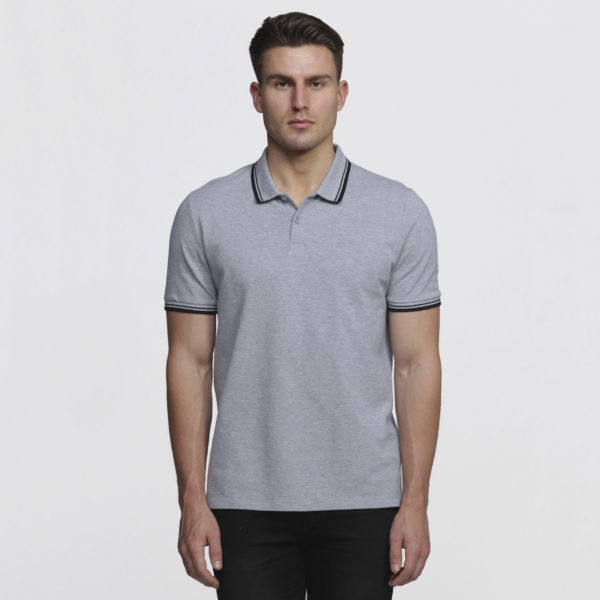 Mens Grey Marle/Black - Front