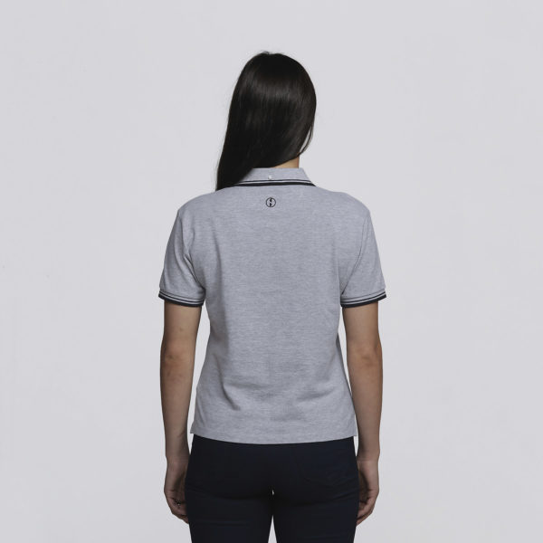 Womens Grey Marle/Black - Back