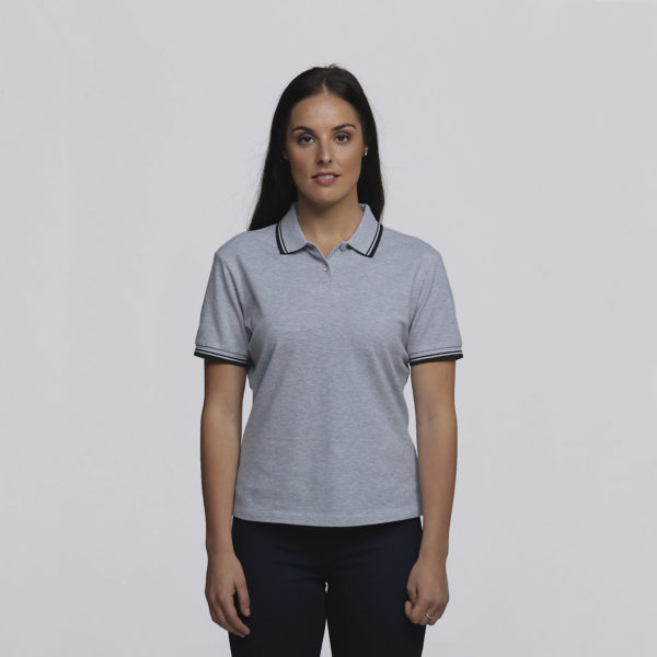 Womens Grey Marle/Black - Front