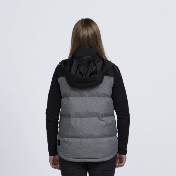 Grey Melange/Black - Back with hood