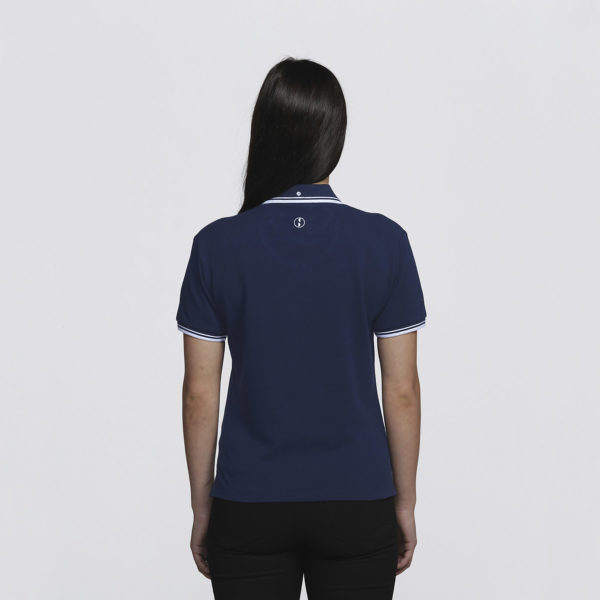 Womens Navy/White - Back