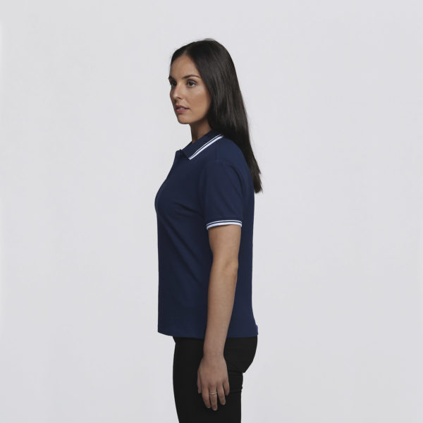 Womens Navy/White - left